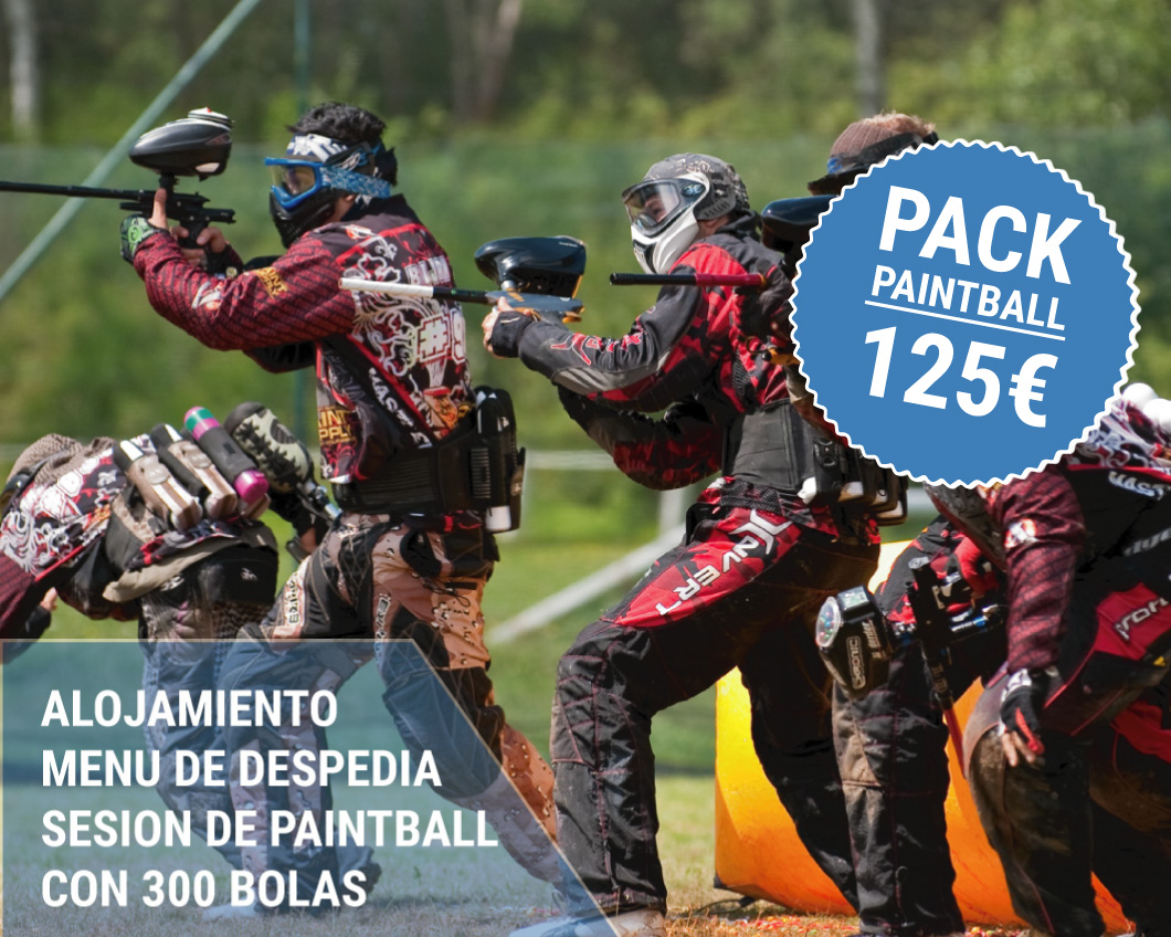 Pack para despedidas paintball
